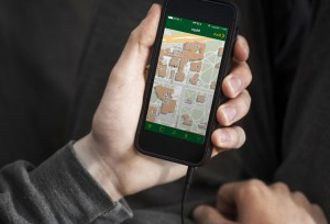 uo. mobile app on a smartphone